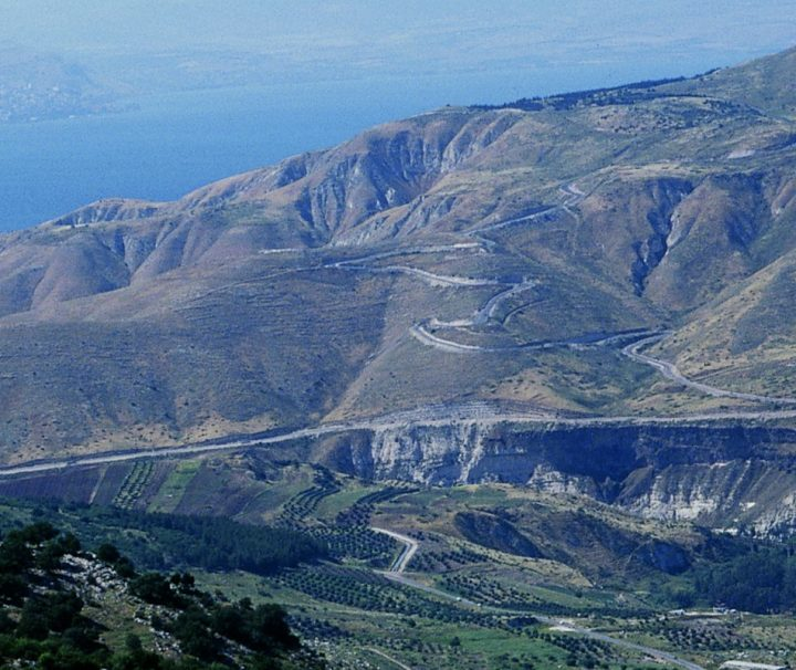 Griechisch geprägte Umqais Golanhoehe in Jordanien