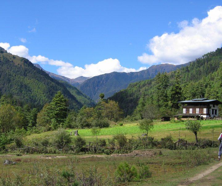 Ausblick beim Bhutan Trekking