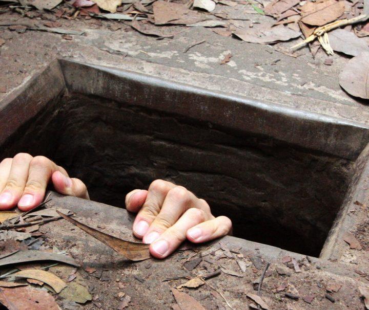 Dieses Tunnelsystem diente den Vietcong während des Vietnamkriegs.