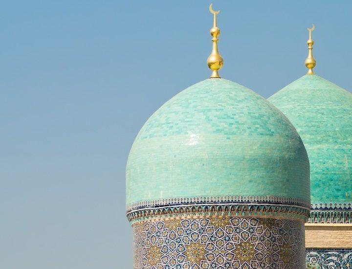 Die Moschee Hasrati Imam ist Teil des gleichnamigen Gebäudekomplexes im alten Wohnbezirk von Taschkent in Usbekistan.