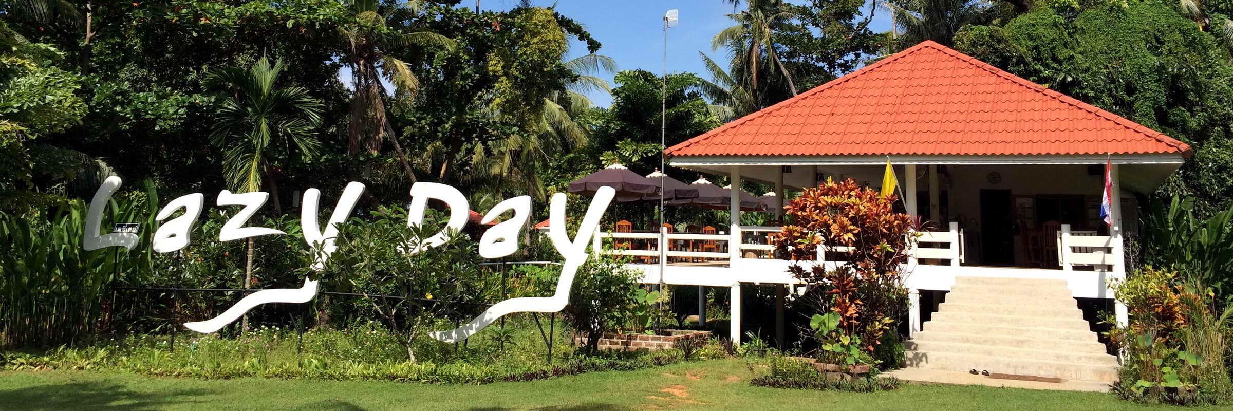 Ansicht des Restaurants im Lazy Day auf Koh Mak