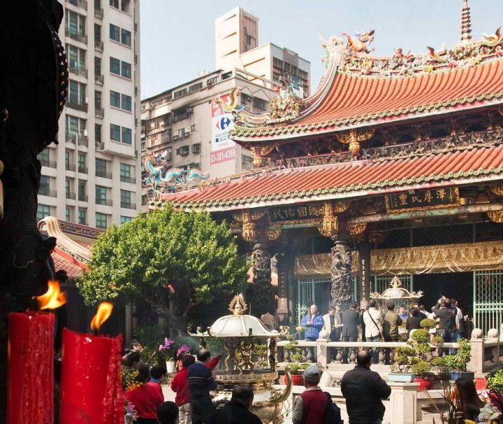Der berühmte Longshan-Tempel in Taipeh wurde 1738 von chinesischen Einwanderern erbaut.