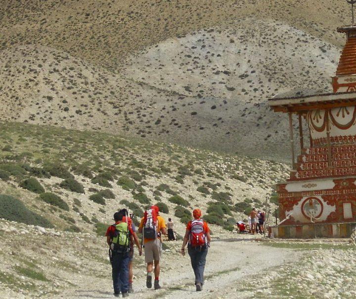 Mit seinem faszinierenden Landschaftsbild und seiner buddhistischen Kulturlandschaft ist das ehemalige Königreich Mustang ein beliebtes Ziel für Trekkingreisen.