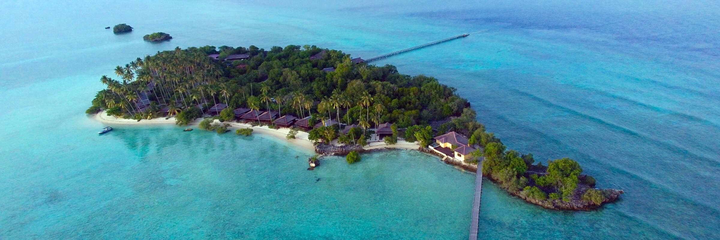 Das paradiesische Nunukan Island Resort befindet sich inmitten der Sulawesisee vor der Ostküste Borneos.
