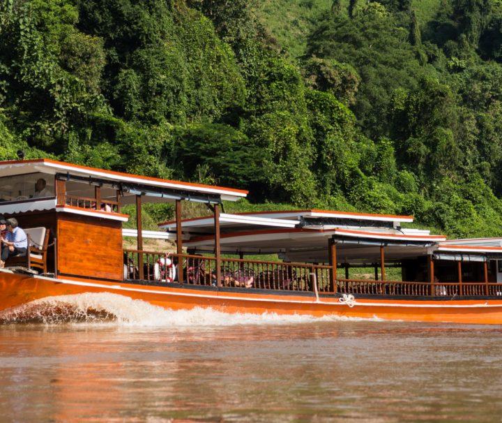 Luang Say Boat, Pak Ou 3 travelling on the Mekong River between Luang Prabang to Huay Xai or from Huay Xai to Luang Prabang, Laos