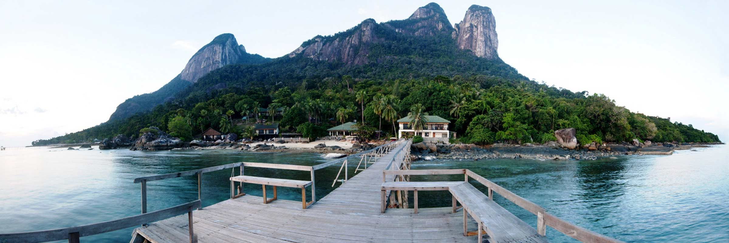 Minang Cove Resort Ansicht Steg